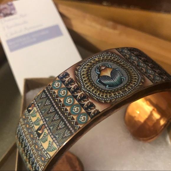 Scarab Copper Cuff 1